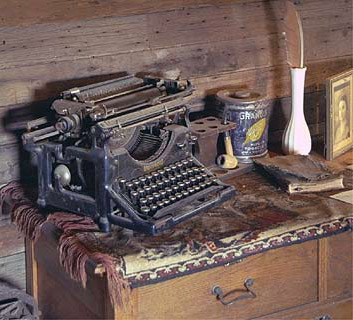Old typewriter at Steins Ghost Town, New Mexico